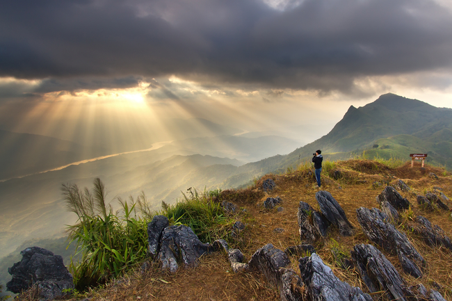 Best places to view the sea of mist in Thailand: Dramatic Doi Pha Tang in Chiang Rai