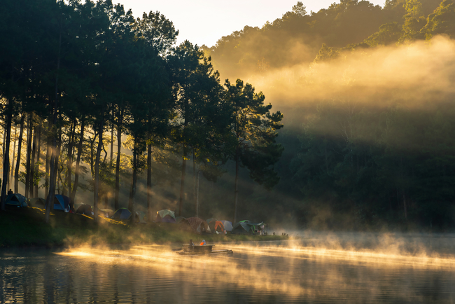 Best places to view the sea of mist in Thailand: Golden morning at Pang Oung in Mae Hongson