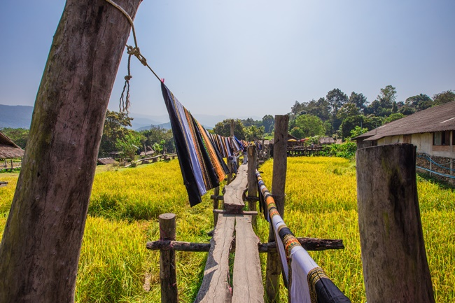 Things to do in Nan, Thailand: Rice fields, wooden huts and handwoven textiles in Pua