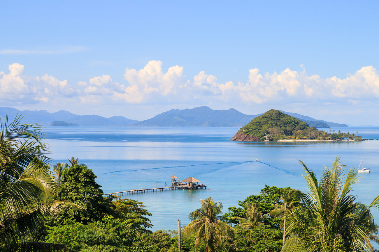Best islands near Bangkok: Koh Mak from above