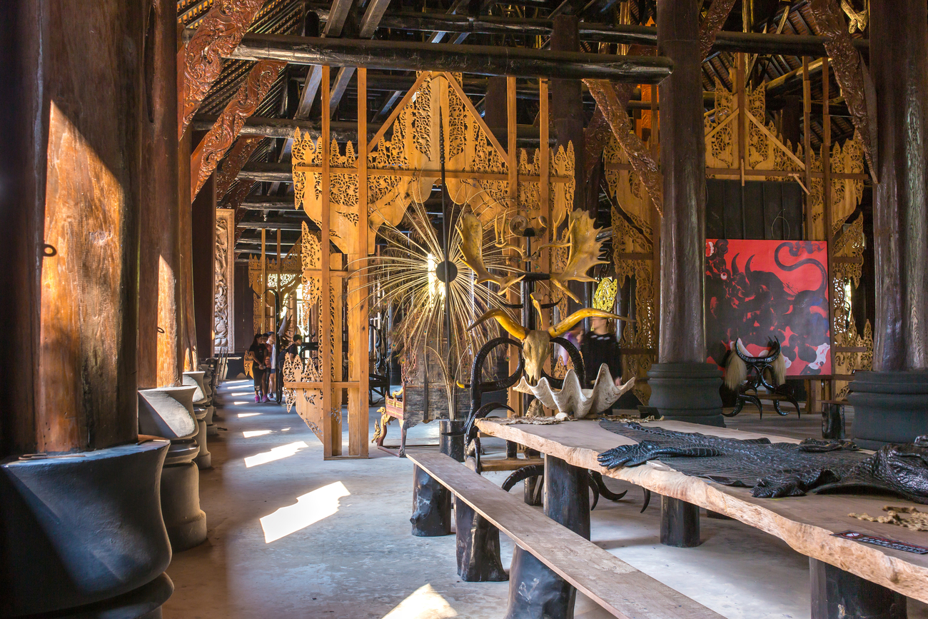 Hidden art museums and art galleries in Thailand: The art of death at Black House, Chiang Rai