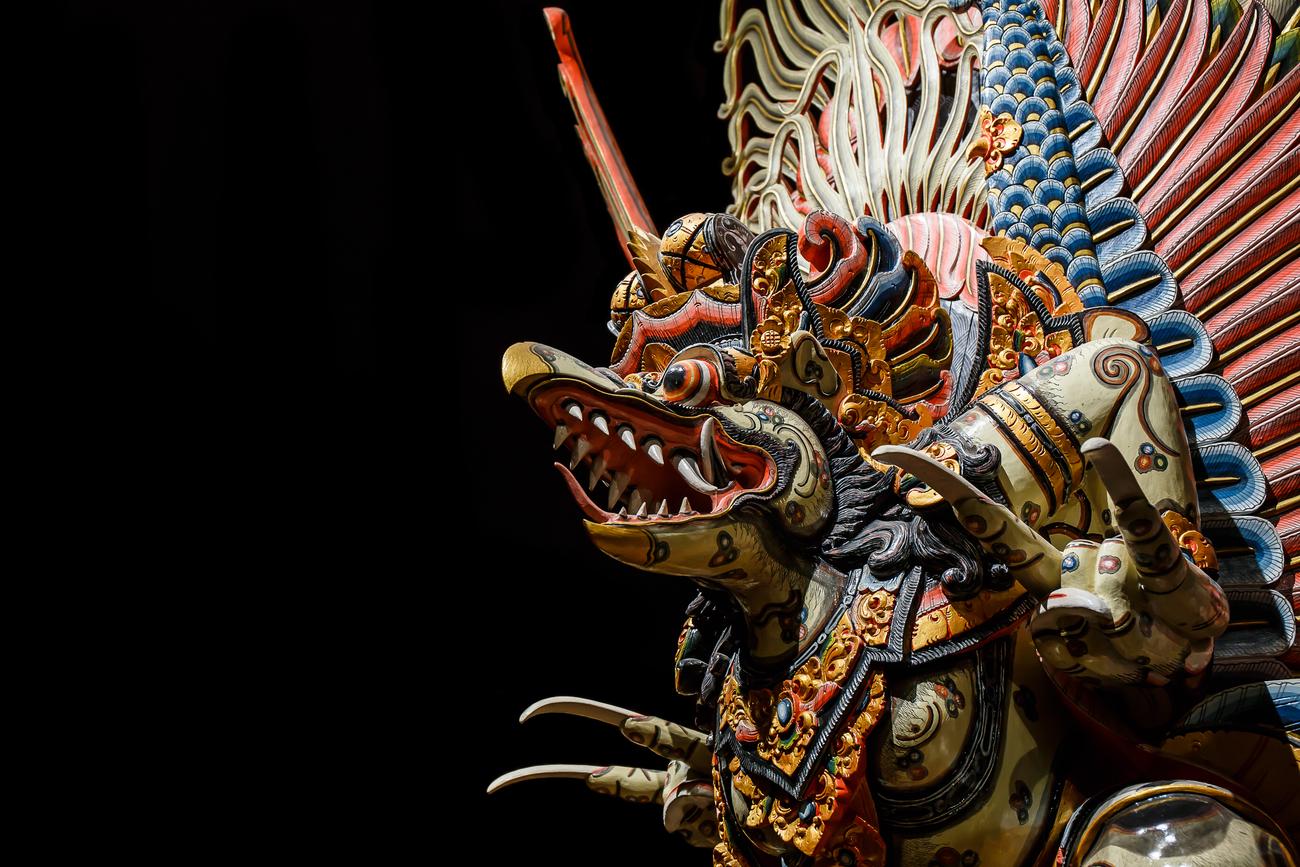 Hidden art museums and art galleries in Thailand: Wooden Garuda at Woodland Muangmai, Nakhon Pathom