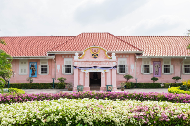 Things to do in Ratchaburi, Thailand: The pink building of Ratchaburi National Museum