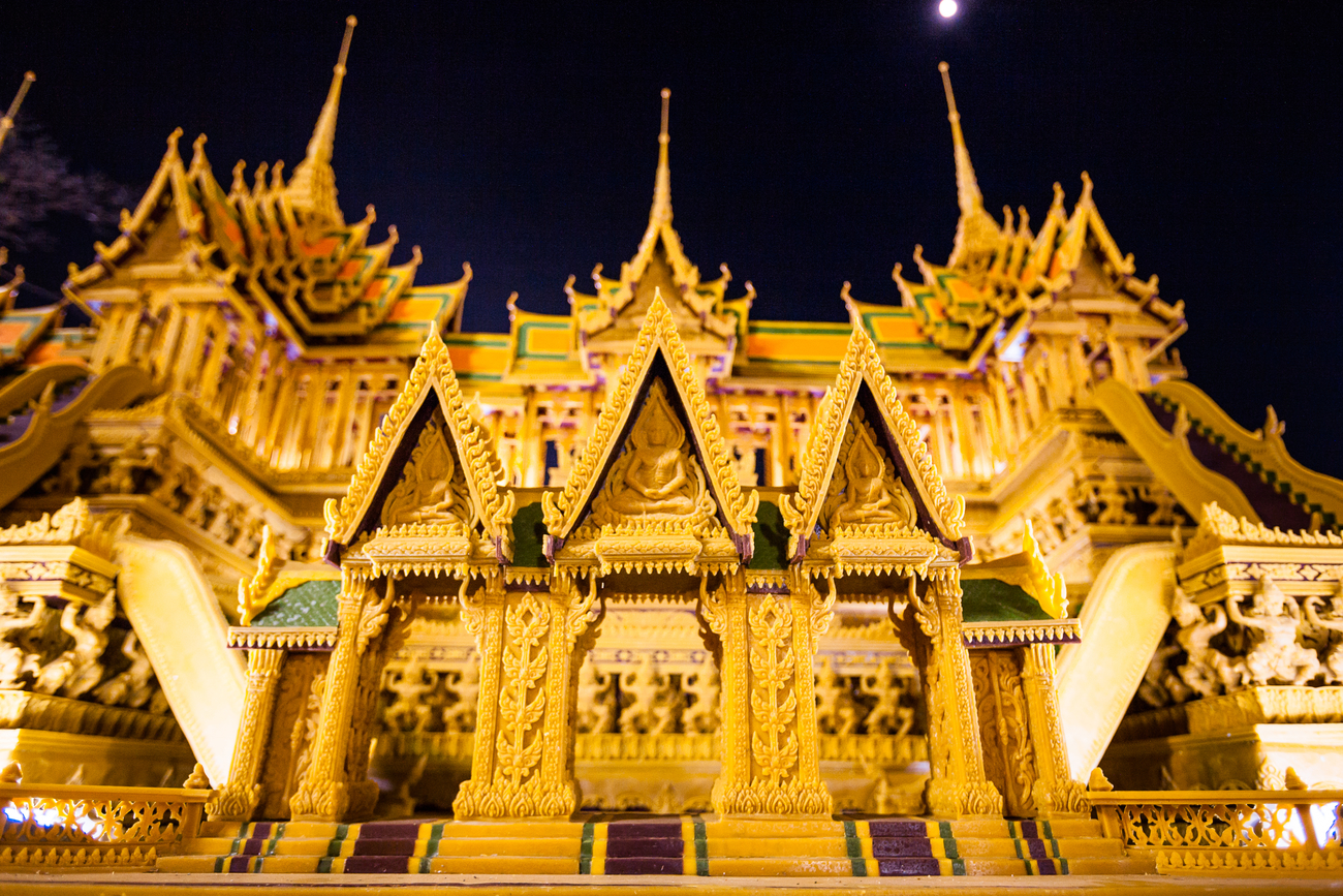 Things to do in Sakon Nakhon, Thailand: One of the wax wonders from Wax Castle Festival