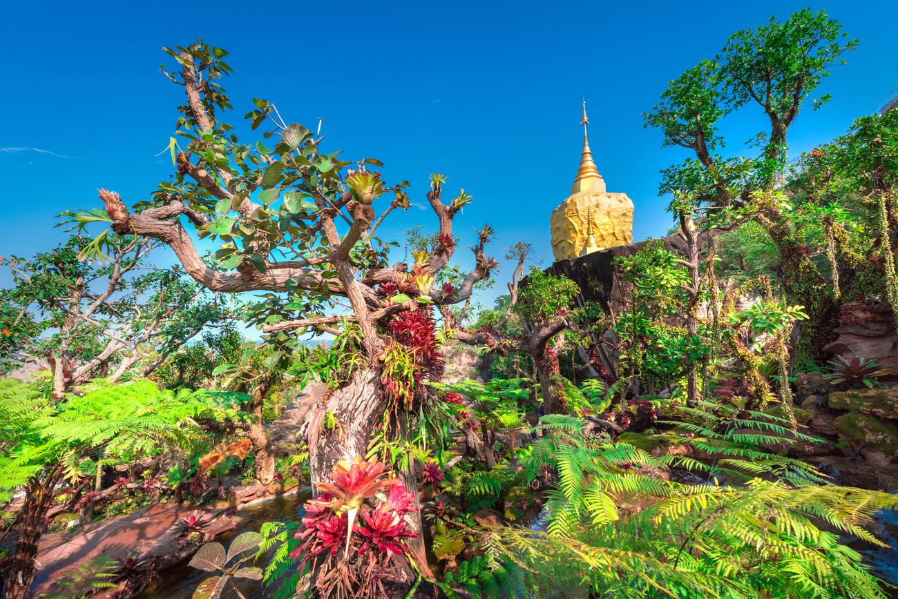 Things to do in Sakon Nakhon, Thailand: The beautiful landscape of Wat Tham Pha Daen