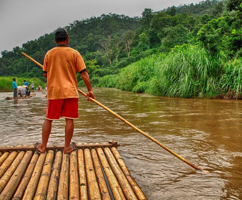 Bamboo rafting, Chiang Mai