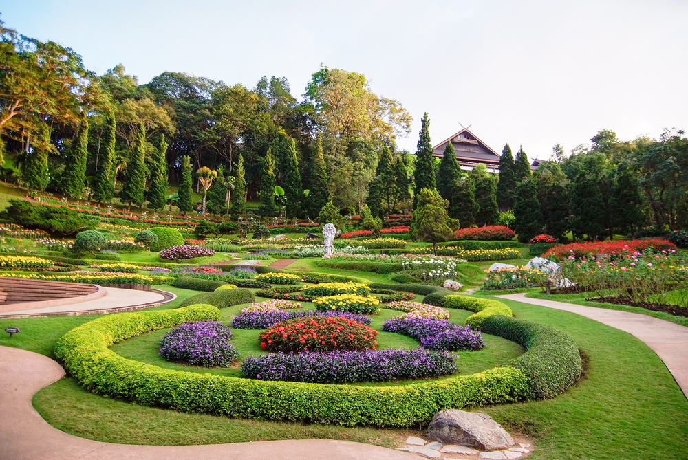 Things to do in Chiang Rai, Thailand: The colors of Mae Fah Luang Garden on Doi Tung